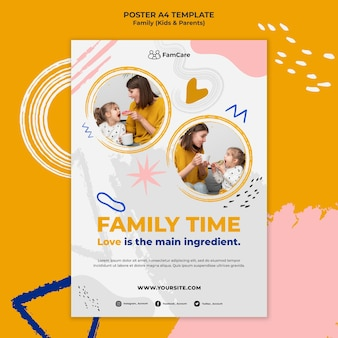 Family time poster template