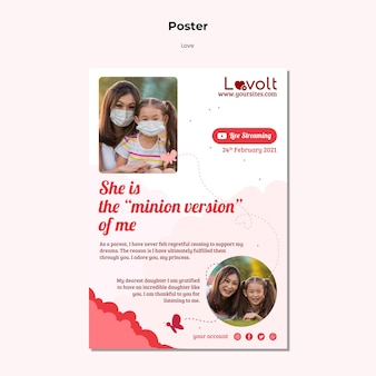 Family vertical print template