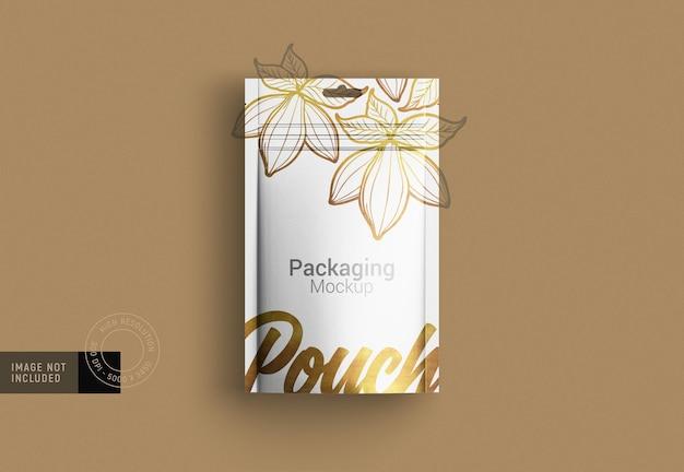 Необычная упаковка для пищевых продуктов, макет, облегченная версия, вид сверху