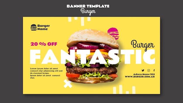 Fantastic burger banner web template