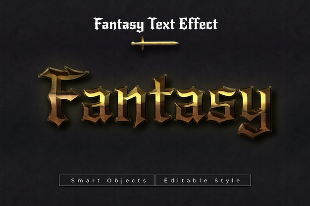 Fantasy text effect