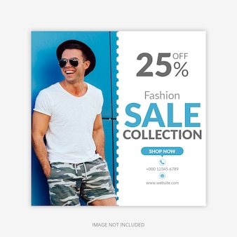 Fashion ads square banner template