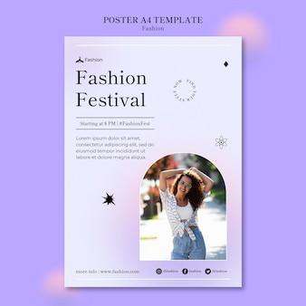 Шаблон печати моды и стиля