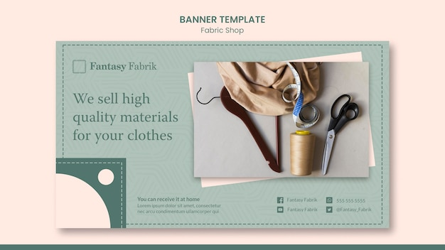 Шаблон концепции модного баннера