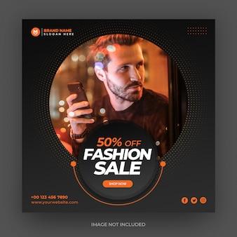 Fashion banner design for social media instagram