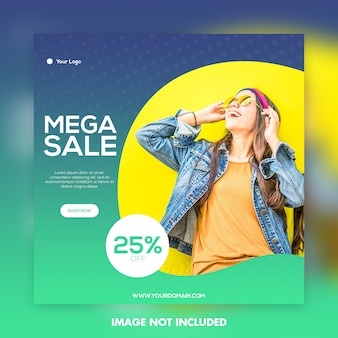 Fashion banner post template