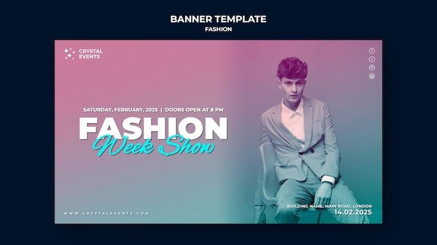Fashion banner template