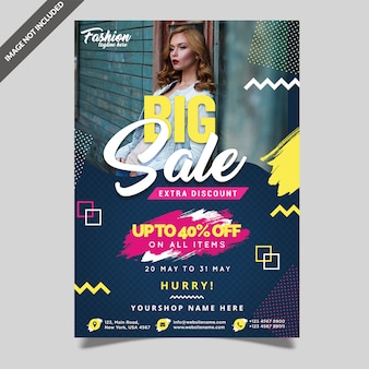 Fashion big sale flyer template
