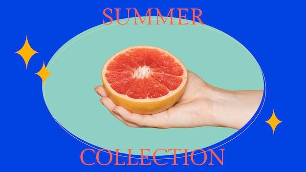 Modello di banner per blog di moda psd per l'estate