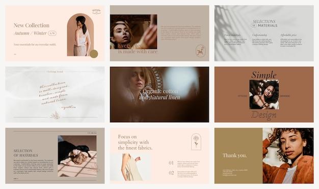 Collezione di social media psd di modelli di moda e branding