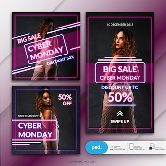 Fashion business social media banner template