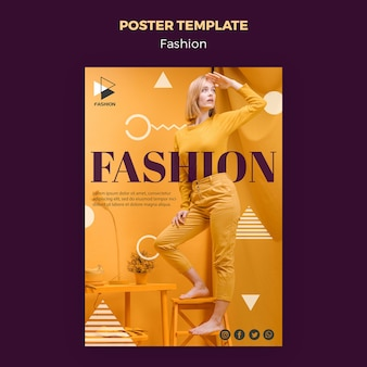 Fashion clothing poster template