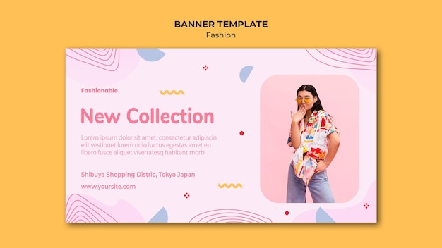 Fashion collection banner template
