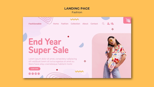 Fashion collection landing page