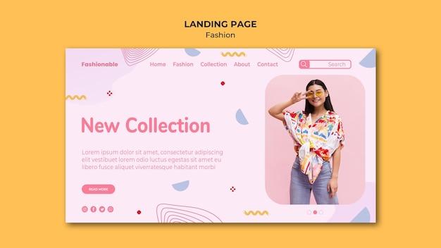 Целевая страница модной коллекции