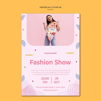 Fashion collection poster template