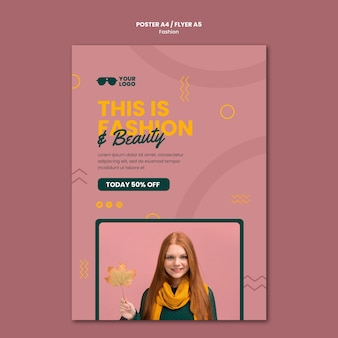 Fashion company flyer template