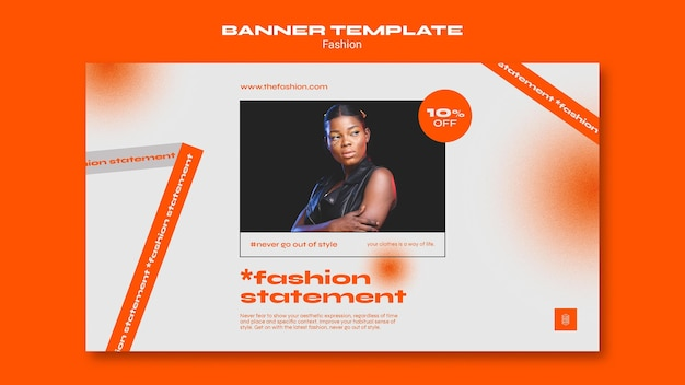 Fashion concept banner template