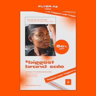 Fashion concept flyer template