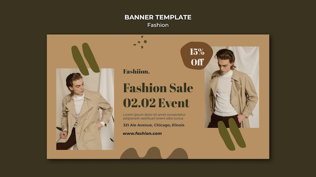Fashion concept horizontal banner template