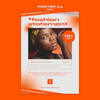 ファッションコンセプトポスターテンプレート