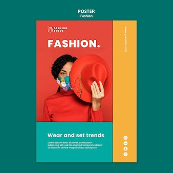 Fashion concept poster template