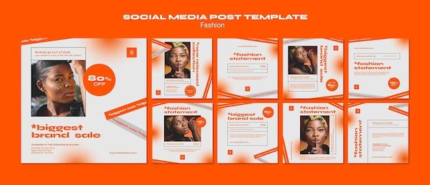 Шаблон сообщения в социальных сетях fashion concept