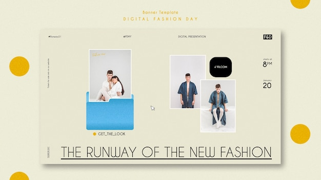 ファッションの日の広告テンプレートバナー