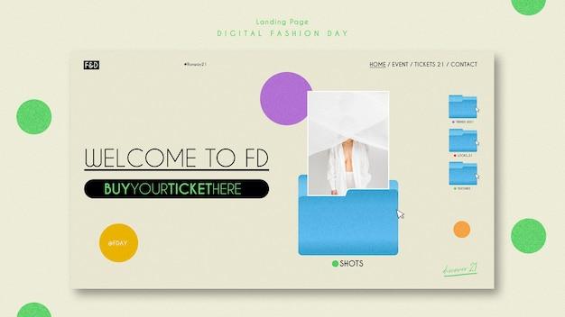 Целевая страница шаблона объявления дня моды