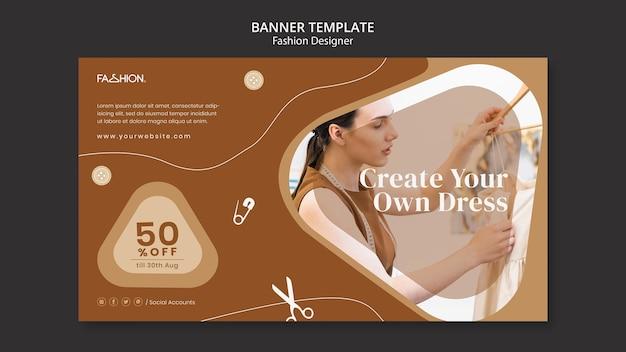 Fashion design landing page template