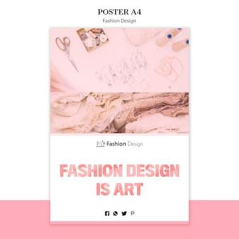 Concetto di poster di design di moda