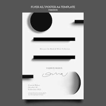 ファッションデザインの印刷テンプレート