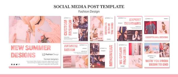 Fashion design social media post