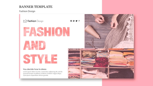 Fashion design template for banner