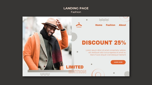 Fashion discount landing page