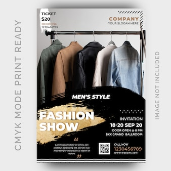 Fashion discount sale flyer design template