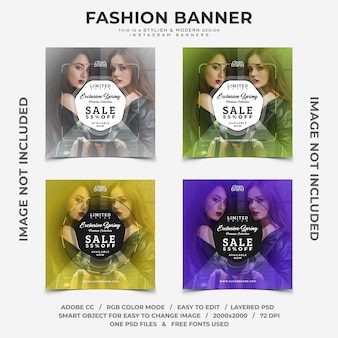 Fashion event sale discounts instagram banners
