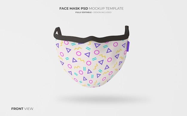 Модная маска для лица макет спереди