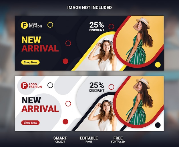 Fashion facebook cover banner template