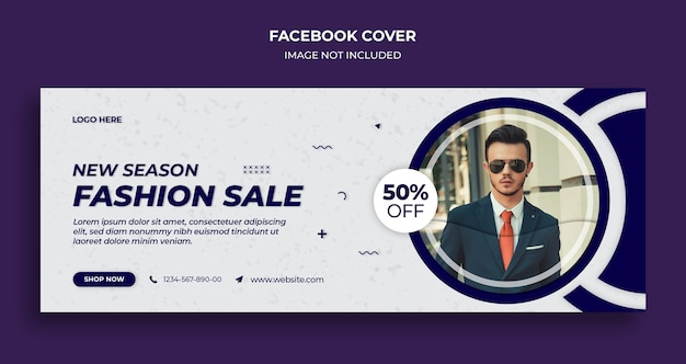 Fashion facebook timeline cover and web banner template Premium Psd