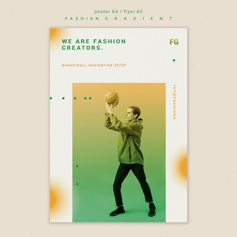 Fashion gradient flyer template