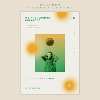 Fashion gradient poster template