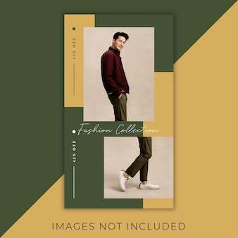Fashion instagram flyer stories modern and elegant