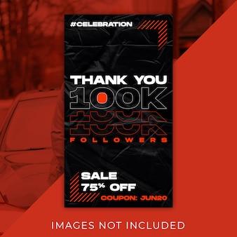 Fashion instagram followers celebration discount