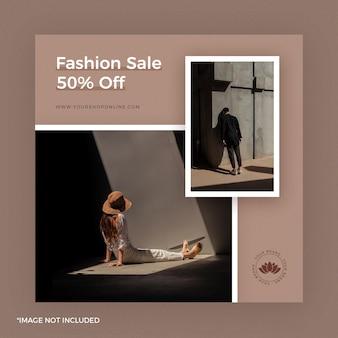 Fashion instagram post banner brown