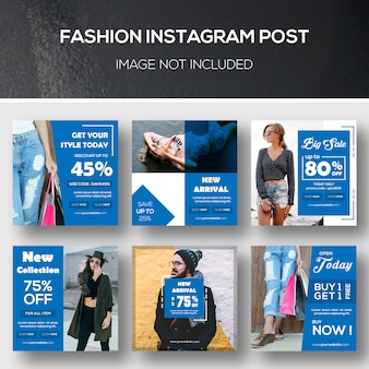 Fashion instagram post or banner template
