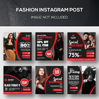 Fashion instagram post bundle