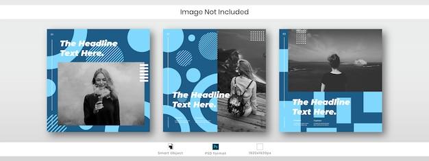 ファッションinstagramソーシャルメディア投稿バナーテンプレート