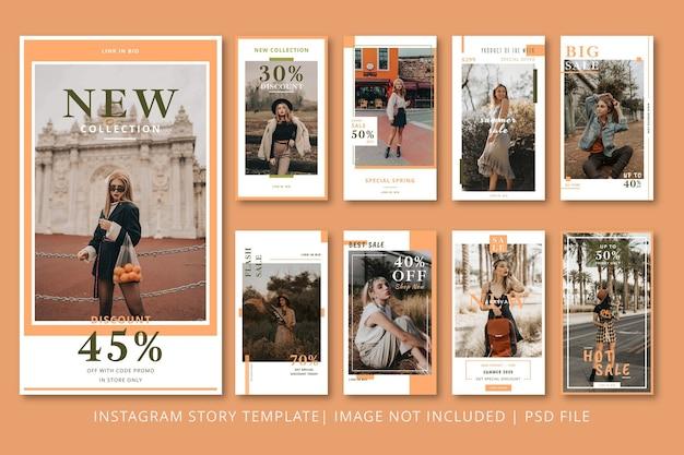 ファッションinstagramストーリーグラフィックテンプレート