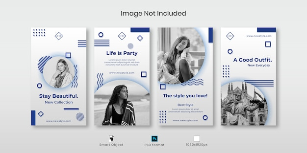 Fashion instagram stories template set